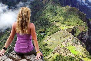 Megan Sullivan au Pérou, surplombant le Macchu Pichu - Instagram Megan Sullivan